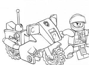 Полицейский и мотоцикл Лего