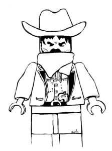 Полицейский ковбой Лего