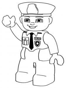 Полицейский Лего с галстуком