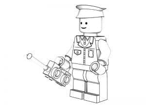 Лего полицейский с радио