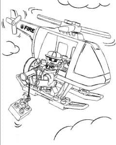 Вертолет Лего