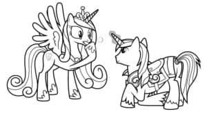 две пони раскраска для ребенка