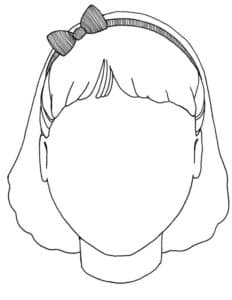 голова с короткой прической
