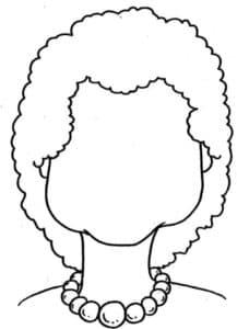лицо женщины с бусами