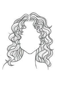 волнистая прическа портрет