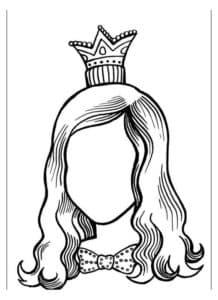 лицо женщины с короной