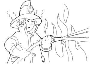 дядя пожарник и огонь