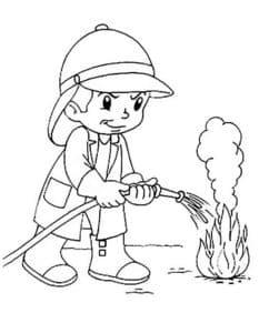 маленький пожарник