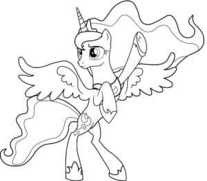 Принцесса луна с крыльями