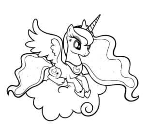 Принцесса луна маленькая пони