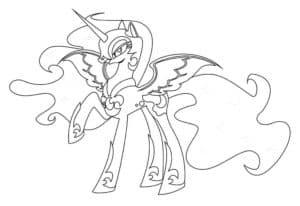 Принцесса луна с узорами