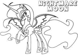 Принцесса луна трафарет