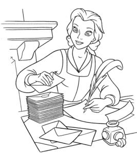 Принцесса Белль пишет письма