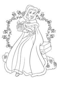 Принцесса Белль и венок из цветов