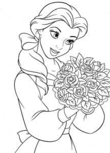 Принцесса Белль с букетом