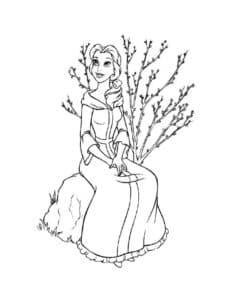 Принцесса Белль с цветами