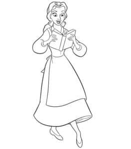 Принцесса Белль с книгой