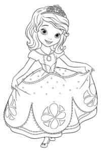 Принцесса София в платье с узорами