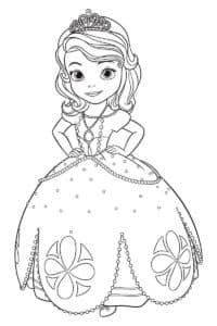 Принцесса София раскраска для ребенка
