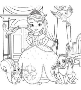 Принцесса София с питомцами