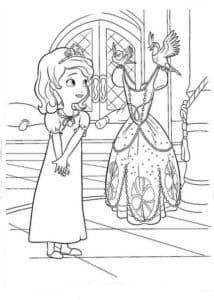 Принцесса София и красивое платье