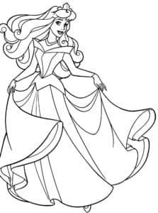 Распечатать принцессу на балу