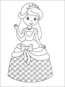 раскраска кукла распечатать бесплатно
