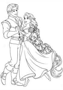 рапунцель с принцем