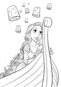 Принцесса Рапунцель в лодке