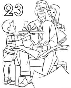подарок от детей папе с 23 февраля