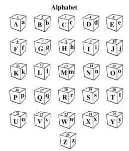Английский алфавит в кубиках