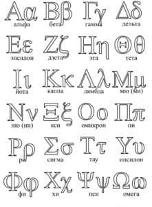 иностранный алфавит