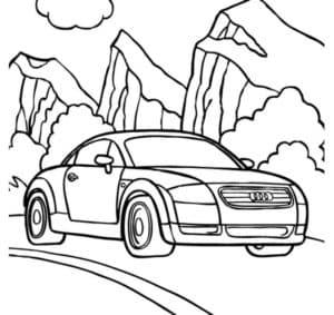 Ауди ТТ и скалы