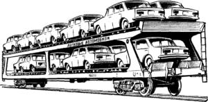 автовоз с автомобилями детская раскраска