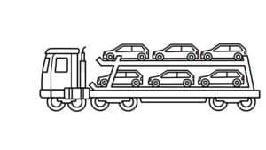 автовоз раскраска детская