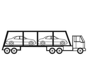 автотранспортер с двумя машинами