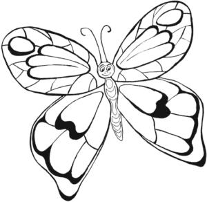 бабочка улыбается раскраска