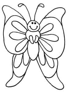 бабочка с большими крыльями