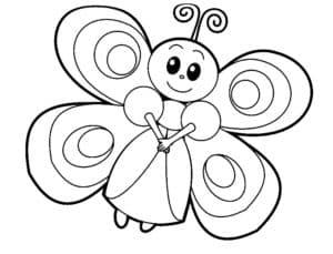 милая бабочка раскраска