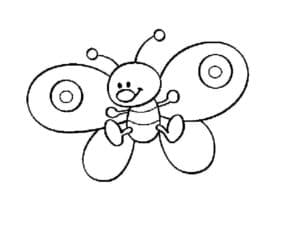мультяшная бабочка