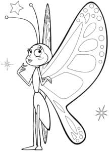 бабочка и звезды