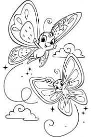 бабочки в облаках