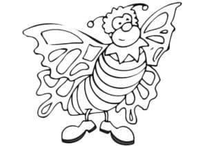 мультяшная бабочка с полосками