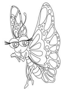 бабочка с большими ресницами