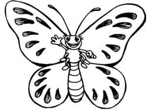 бабочка машет рукой