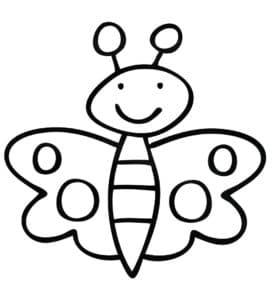 картинка мультяшная бабочка