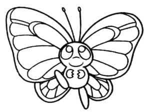 толстая бабочка
