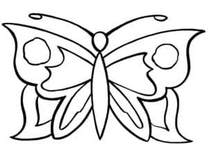 бабочка детская раскраска