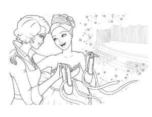 две балерины с пуантами