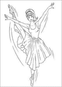 балерина в шикарном платье